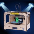 3D Vision Printer Dual Extruder Both ABS and PLA Compatible Assembled Desktop Printing W/2 Free Rolls