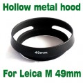 For Leica M LM 49mm Metal Tilted Vented Lens Hood shade