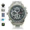 4GB HD 1280 x 960 Stainless Steel  Camera Watch with Hidden Camera
