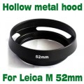 For Leica M LM Summicron black 52 mm 52mm Metal Tilted Vented Lens Hood shade