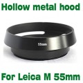 For canon sony nikon 55mm black Metal Tilted Vented Lens Hood Thread Screw
