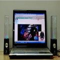 Beautiful Colors Water Dance laptop speaker pair of stereo speakers mini musical fountain stereo