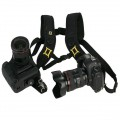 Black Quick Release Double shoulder Camera Neck Strap for 2 Digital SLR Camera