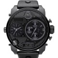 fashion four large dial movement dual display cool black watch DZ7193