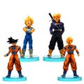 Dragon Ball PVC ornaments exquisite model 4pcs