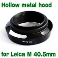 40.5mm 40.5 mm metal vented Lens Hood Shade For Leica M