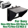 LCD Pop-Up Screen Hood Cover Shade Protector for Sony NEX-3 NEX-5 NEX-C3 DC107