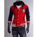 Cotton Blends Casual Long Sleeve Zippered Solid Mens Sweatshirt