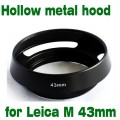 For Leica Samsung NX and Other Lens MH43 Metal Vented Lens Hood 43mm Thread