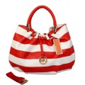 Casual Zipper Cotton Blends Stripe Square PU Pockets Women Handbag
