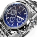 Fashion Mechanical Steel Watchband Multifunction Men's Wrist Watch